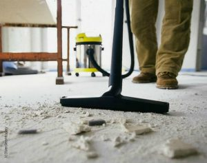 Construction Cleaning, floor sweeping